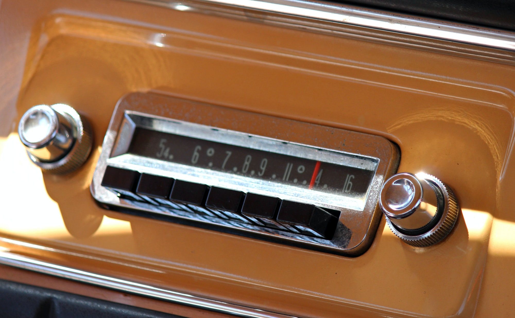 In-Car Entertainment System For A Vintage Car.